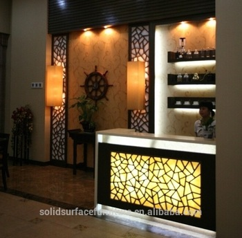 Modern L Shape Light Up Home Mini Wine Bar Counter Designs For