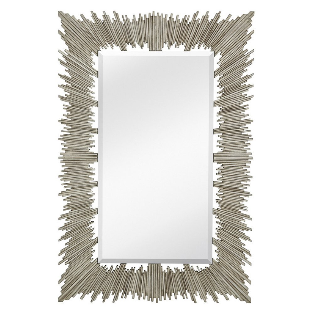 Majestic Mirror Rectangular Beveled Glass Accent Decorative Mirror - 40W x 60H in.