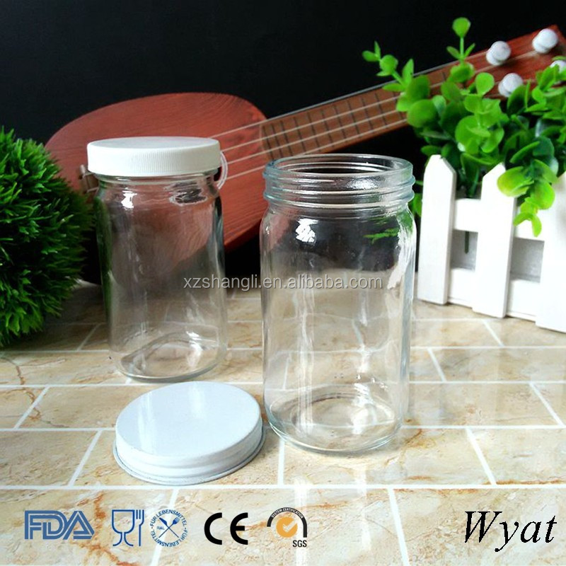Cheap Empty Round 200ml 7oz Glass Food Canning Jar Containers with Plastic Lids