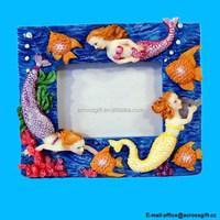 Handpainted Mermaid Photo Frame, Holds 2 X 3