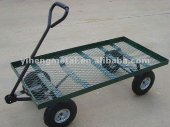 Heavy Duty Nursery Wagon Garden Cart Tires Lawn Yard Tc4206