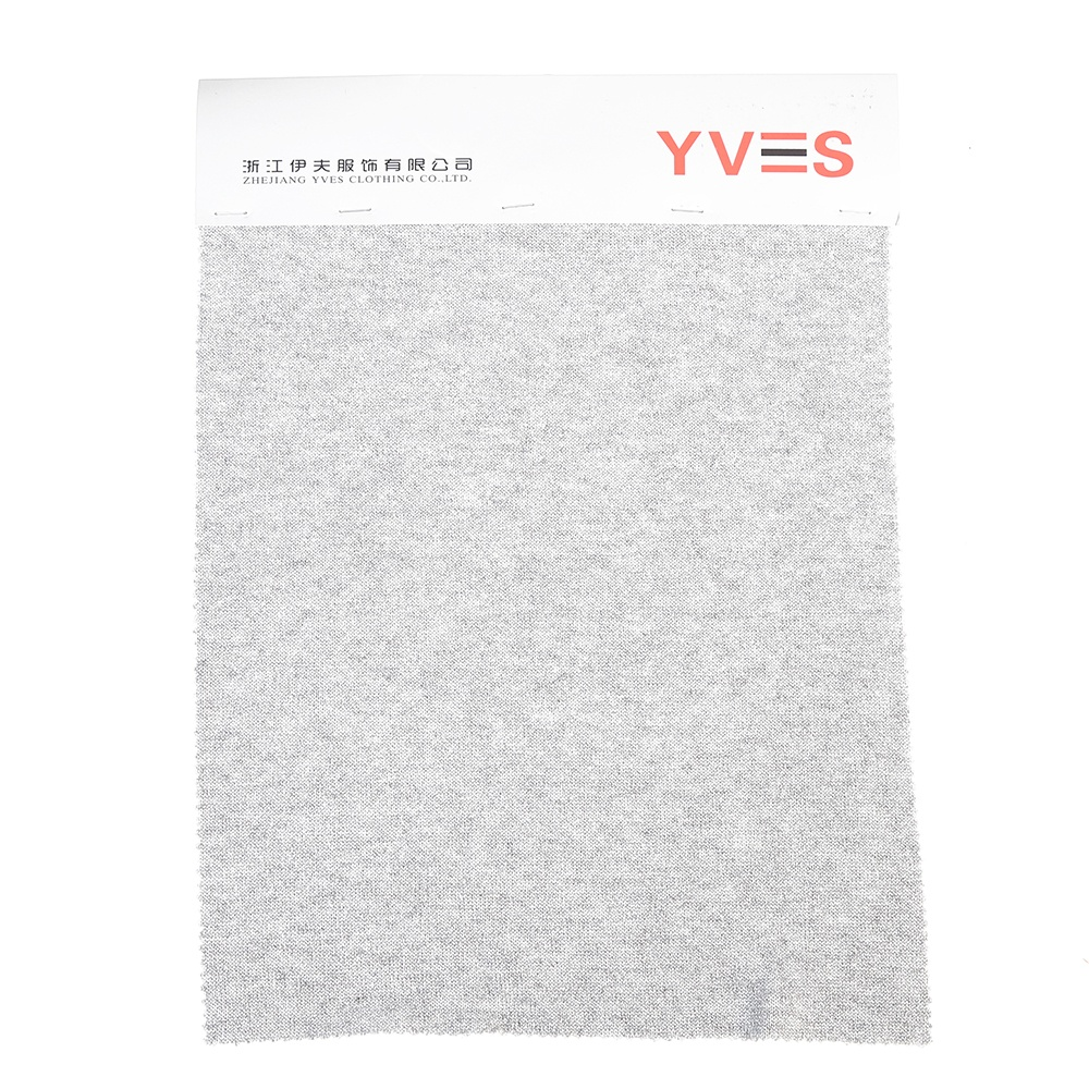 Knitted gray plain stretch elastic woolen cashmere fabric for clothing