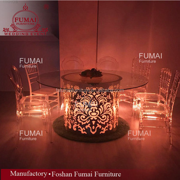 Modern Led Light Up Wedding Furniture Glass Table Hardware Buy