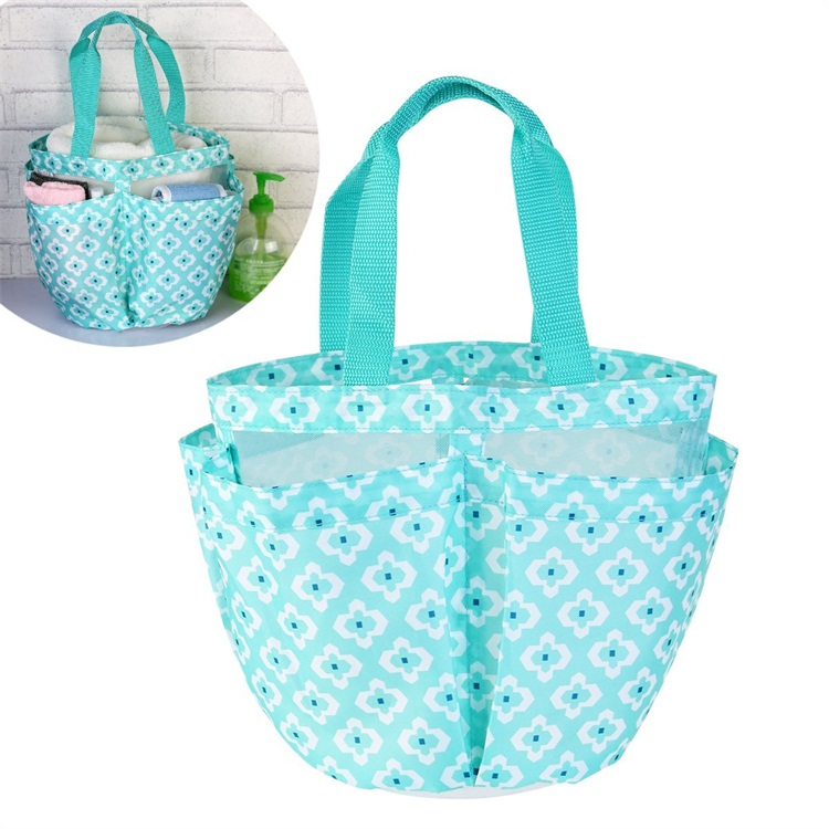 Portable Bathroom Quick Dry Shower Caddy Mesh Bath Tote Green - Buy ...