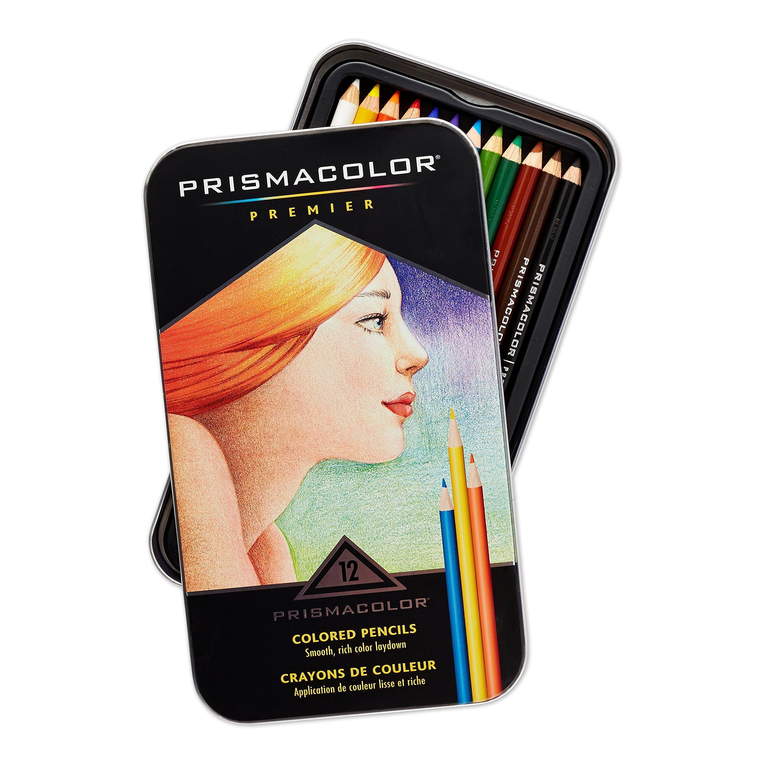 Prismacolor Premier Colored Pencils, Soft Core, 12 Count