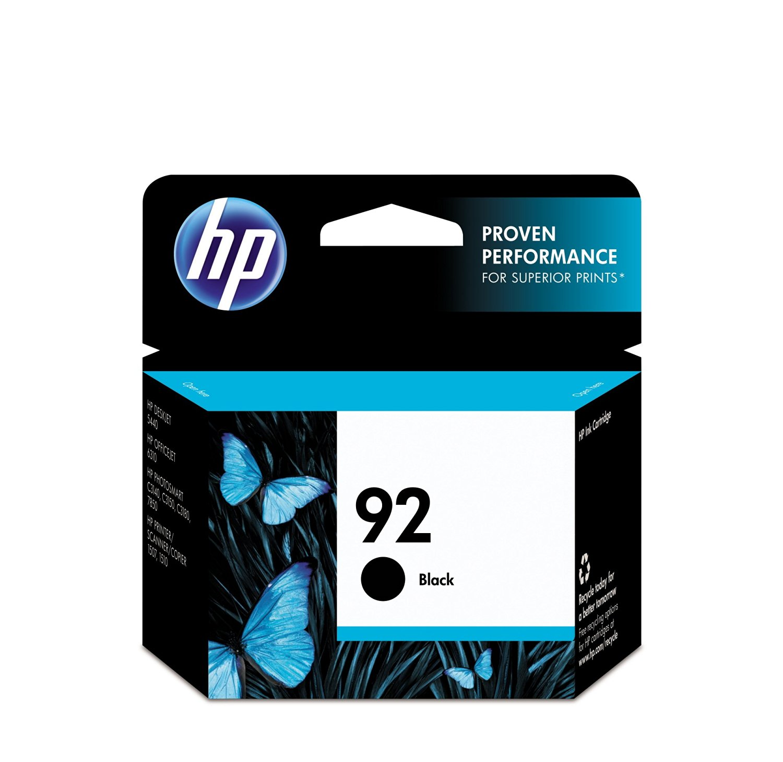 HP 92 Black Ink Cartridge in Retail Packaging -C9362WN