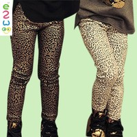 2016 New Design Child Clothes Leopard Print Fabric Girl Hot leggings Of Online
