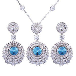 60006 xuping womens necklace earring set crystals from Swarovski