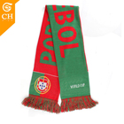 Factory Custom Mini Banner Soccer Knitted Poland Football Fan Scarf