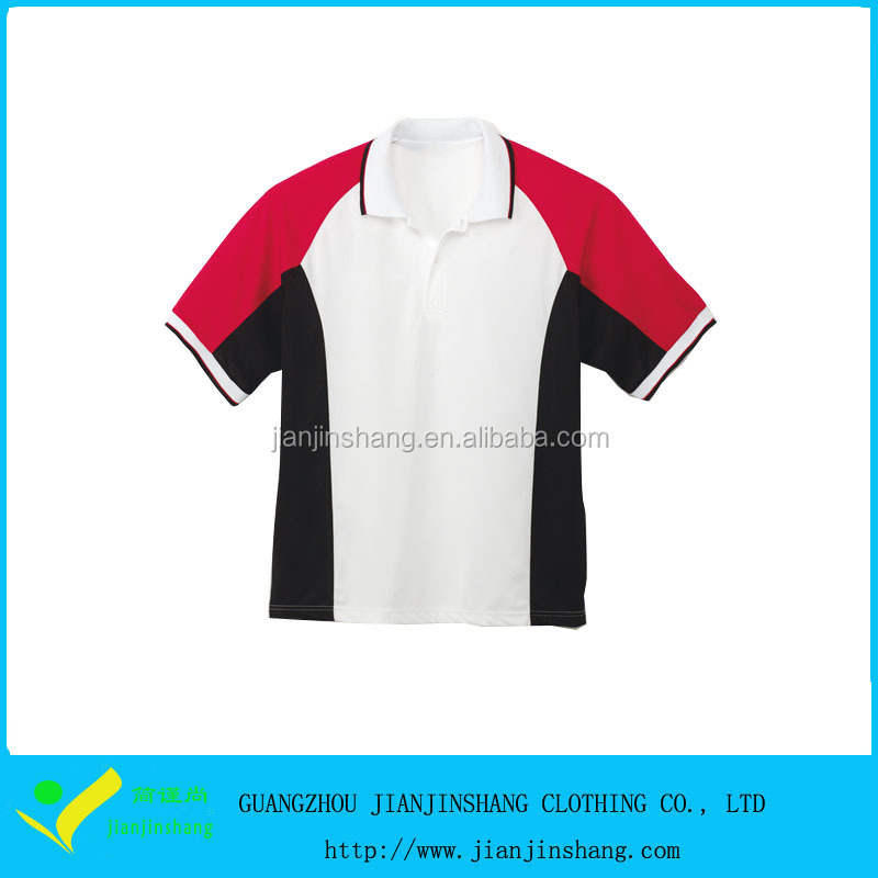 Three Color Combination Dri Fit Pique Fiber Fabrics For Polo Shirt
