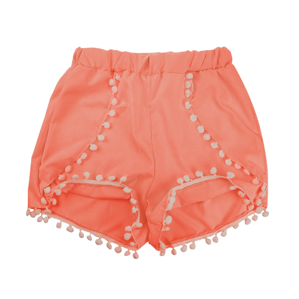 Buy Summer Girls High Waist Tassel Pom Pom Mini Shorts Festival Solid  Casual Gym Sports Women Boho Beach Wear Shorts in Cheap Price on  m.alibaba.com 7cbece38313