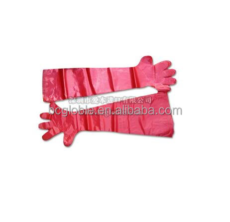 850cm shoulder length Disposable sleeve artificial Insemination veterinary gloves