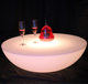 Hot sale color changing remote control light up table acrylic LED round coffee table