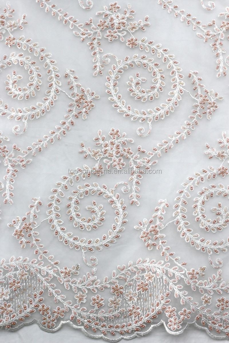 2016 wholesale handwork embroidery french lace fabric for Bridal fabric