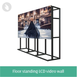 Floor stand digital touch screen terminal lcd kiosk display with printing function
