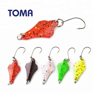 TOMA 1.5g 3g Copper Metal Fishing Lure Spoon Bait Vibration Artificial Hard Baits Spinner