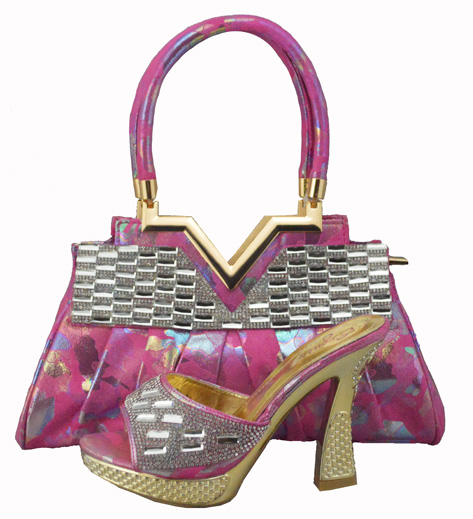 latest ladies shoes high heel shoes and bage set italian shoes and bag