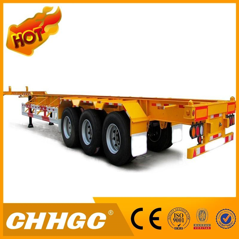 2016 new design yard chassis bomb cart terminal semi trailer with low price