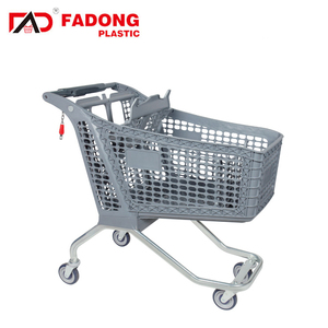 Wholesale price unfolding plastic hand shopping trolley cart