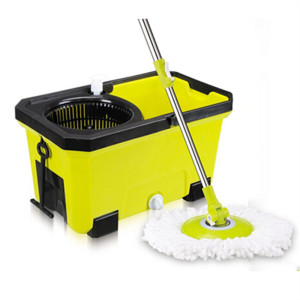 Accept OEM Order Flat Frame Yellow Bucket Easy Cleaning Mop Set