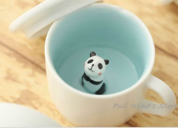 mini cute panda ceramic cup nice wait panda cup custom animal cups creative panda coffee cup. Black Bedroom Furniture Sets. Home Design Ideas