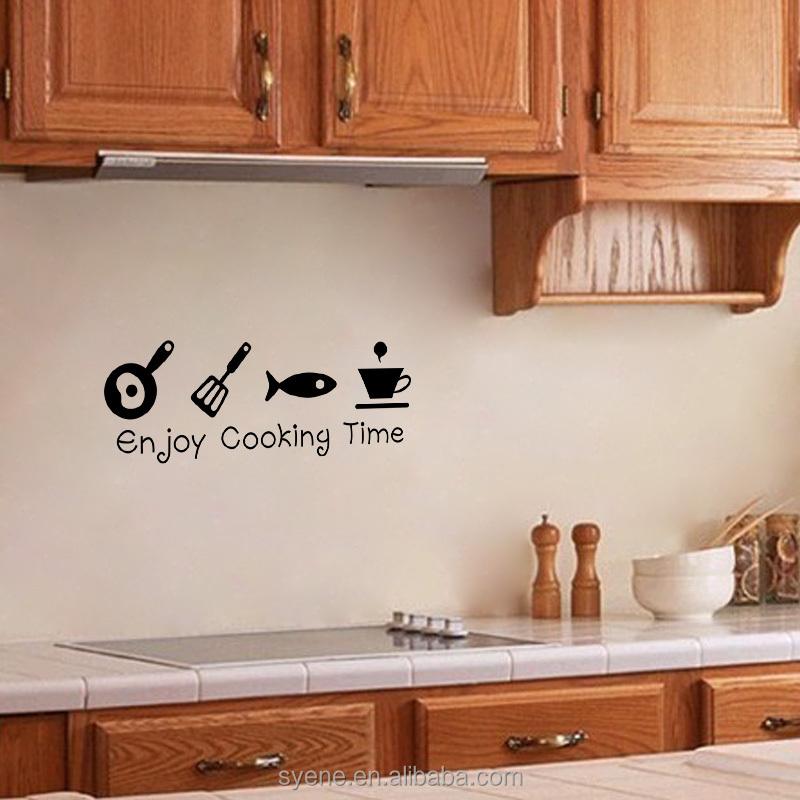 Keuken muur decor keuken muur tegelstickers 3d kunst vinyl for Kunst keuken