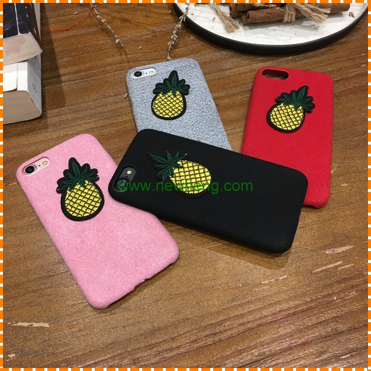 Flannel Pineapple Women Mobile Phone Cases For iPhone 7, Plastic Case For iPhone 7