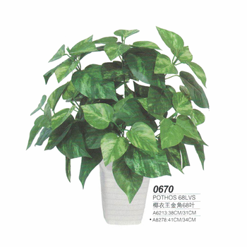 Potted Artificial Pothos Foliage Decorative Plants Bulk Price
