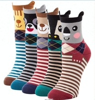 Wholesale Animal Design Knitting Dog Women Socks Outdoor Dress Socks