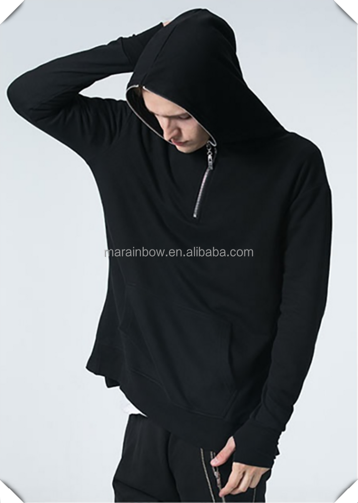 Stylish Oem Men Half Zipper Pullover Hoodie For Streetwear Hip Hop ...