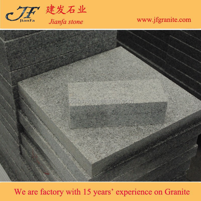 Surface flamed edge cut G603 grey granite paving cubes