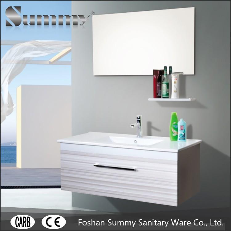 Tempered Glass Sink Top PVC Vanity