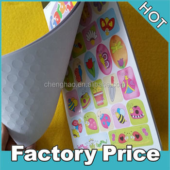 custom kids self-adhesive decorative booklet stickers for promotional stationery