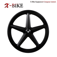 XBIKE super light material by TG T1000 full carbon fixie 5-spoke bike wheels