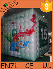 3m Advertising inflatable square PVC helium balloon/inflatable cube balloon