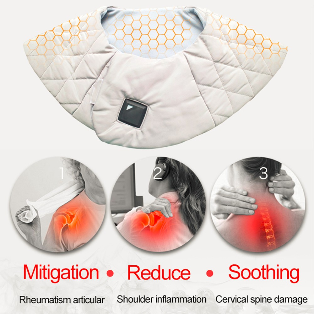 Smart Design Temperature Control Powered Smart Massage Shawls Breathable Mesh Fabric