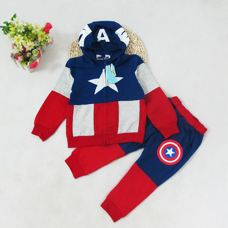 Children outfits colour mosaic pure cotton star show design boys handsome zipper hoodies+pants clothing sets China supply