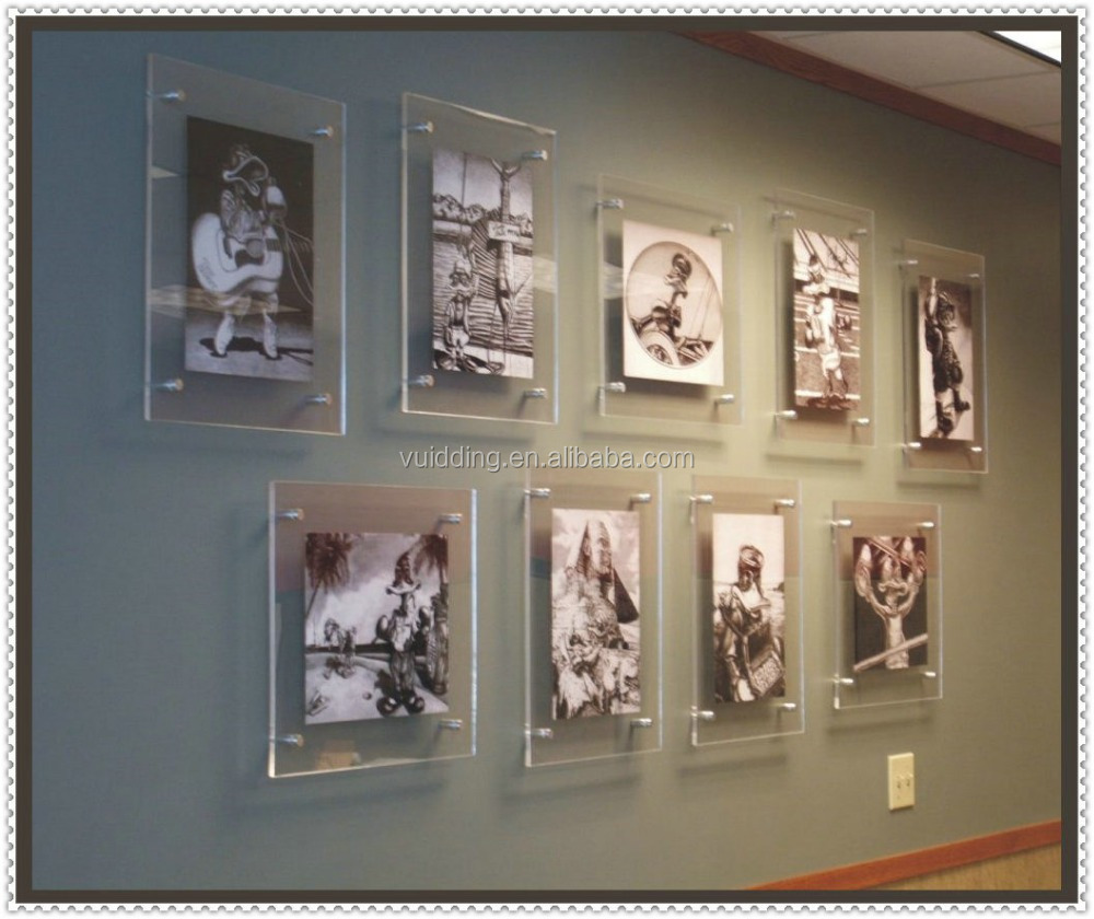 Decorative Customzied Glass Photo Picture Wall Mounted Frame - Buy ...