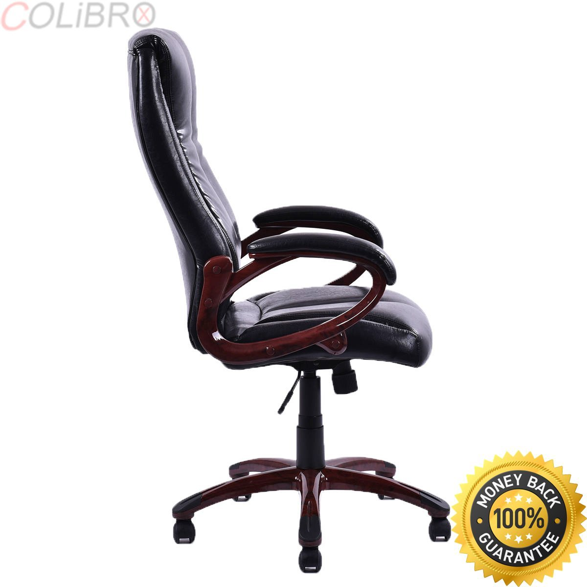 COLIBROX--Ergonomic PU Leather Office Chair High Back Swivel Executive Desk Task Black New. ergonomic office chair with lumbar support. ergonomic chair reviewsergonomic chair reviews. office chairs.