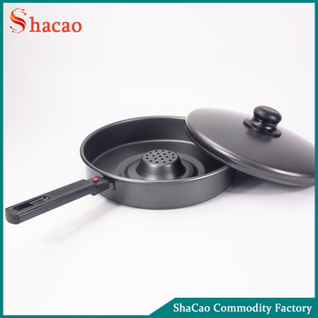 Holes In The Middle Free Oil Carbon Steel Non Stick Fry