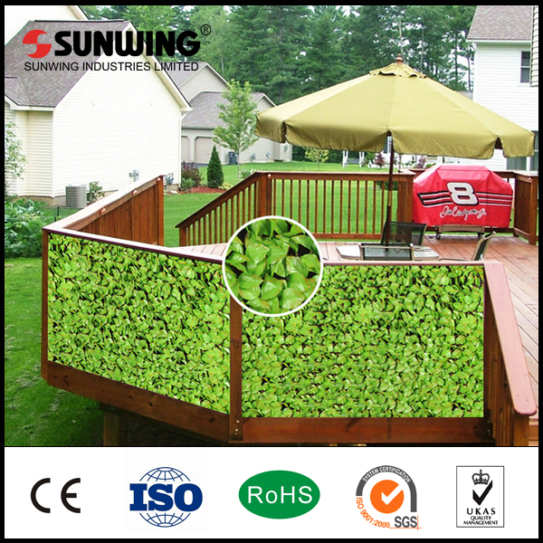 wholesale artificial green plastic bamboo leaf fences