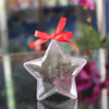 JLS clear plastic box for tree /ball/ bell/ star shaped plastic candy gift box