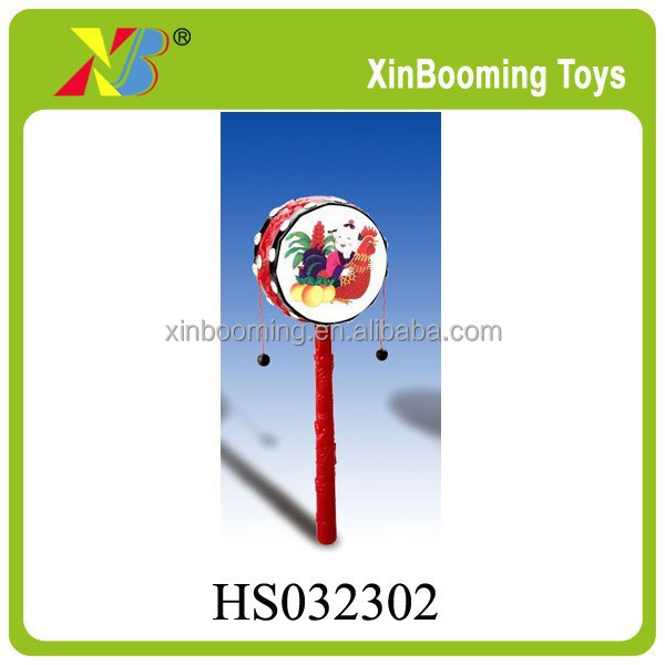 Promotion Gift 8CM Plastic traditional Chinese painting Rattle for kids