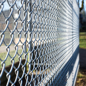 China manufacturer paint chain link fence black from