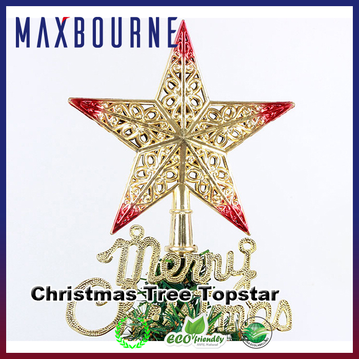 Hot selling tree top glitter star for Christmas decoration and wishes
