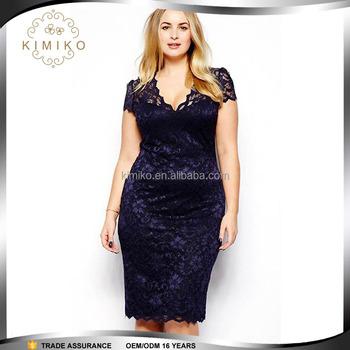Fashion Lace Plus Size Dress,Fat Women Dresses,Plus Size Women ...