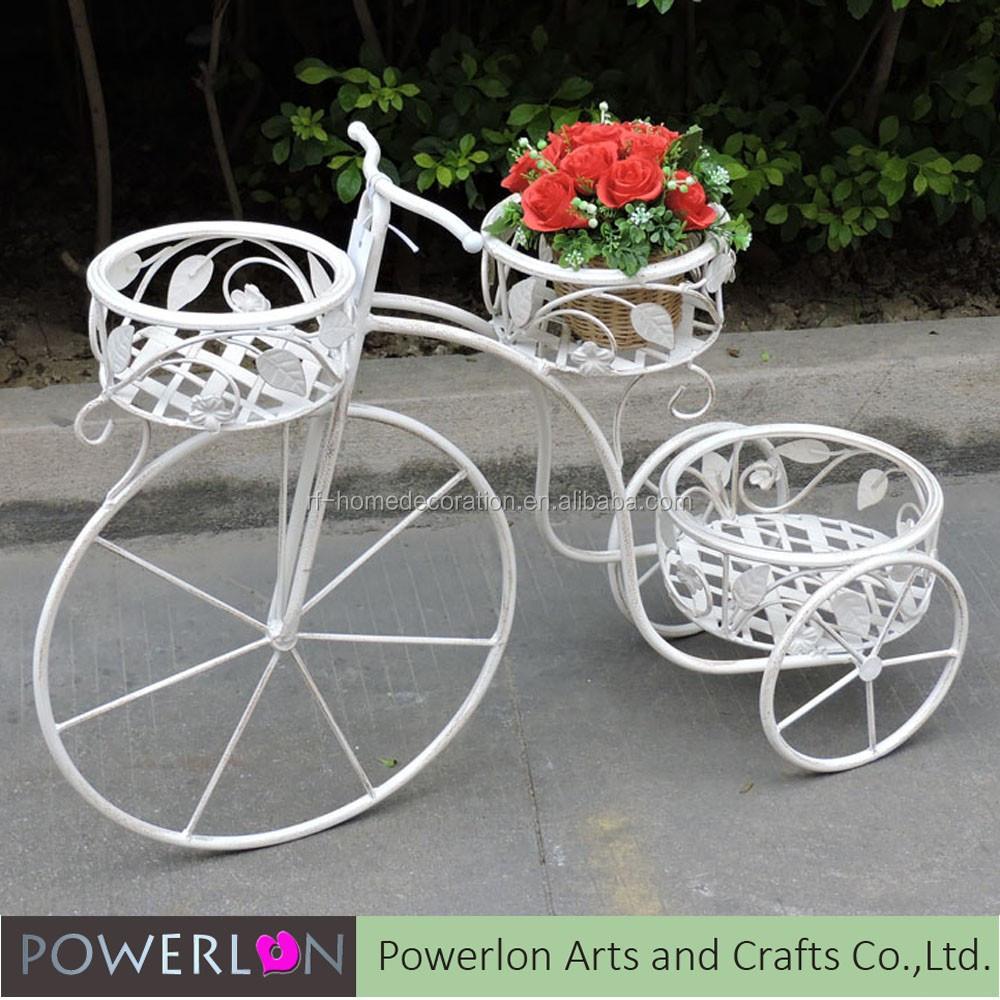 2 tier hierro forjado patio decorativo bicicleta maceta macetas buy metal maceta macetas - Bicicleta macetero ...