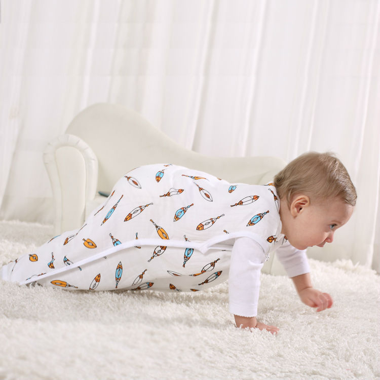 Summer single layer muslin sleeping bag baby swaddle muslin baby swaddle wraps