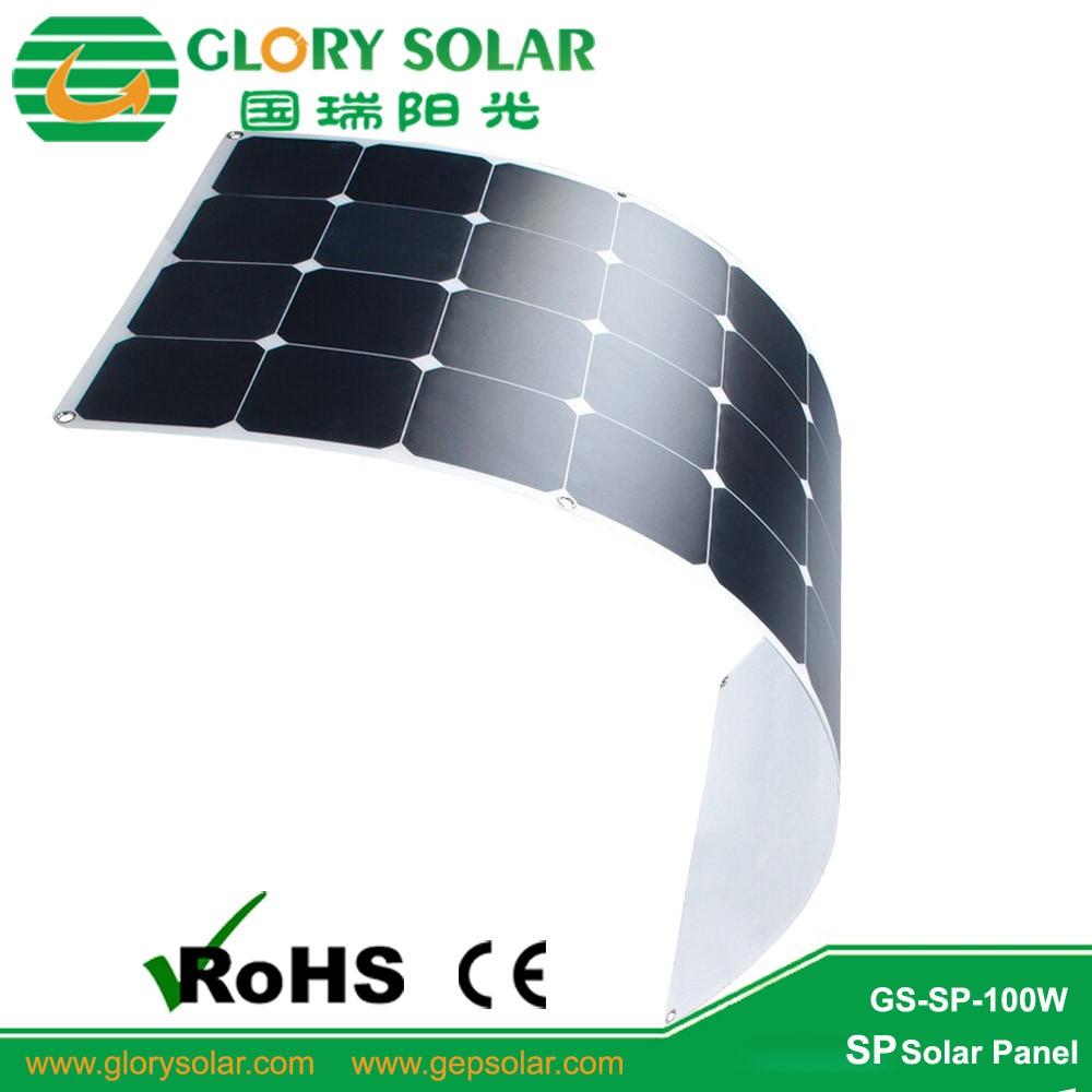 China Factory Offer High Quality Cheap 100W 150 Watt Solar Panel Price,  Semi Flexible Sunpower Solar Panel For Boat RV Tent Car, View sunpower  solar