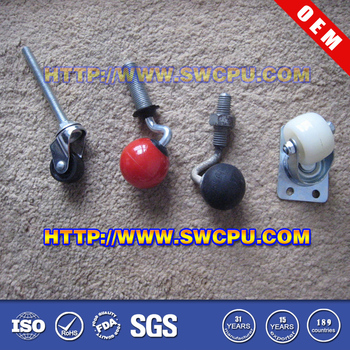 Customized Nr Coated Caster Wheels For Transporter Chairs